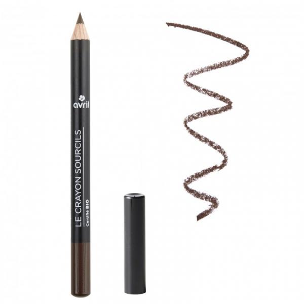 Creion pentru sprâncene, certificat bio, Brun, Avril 0