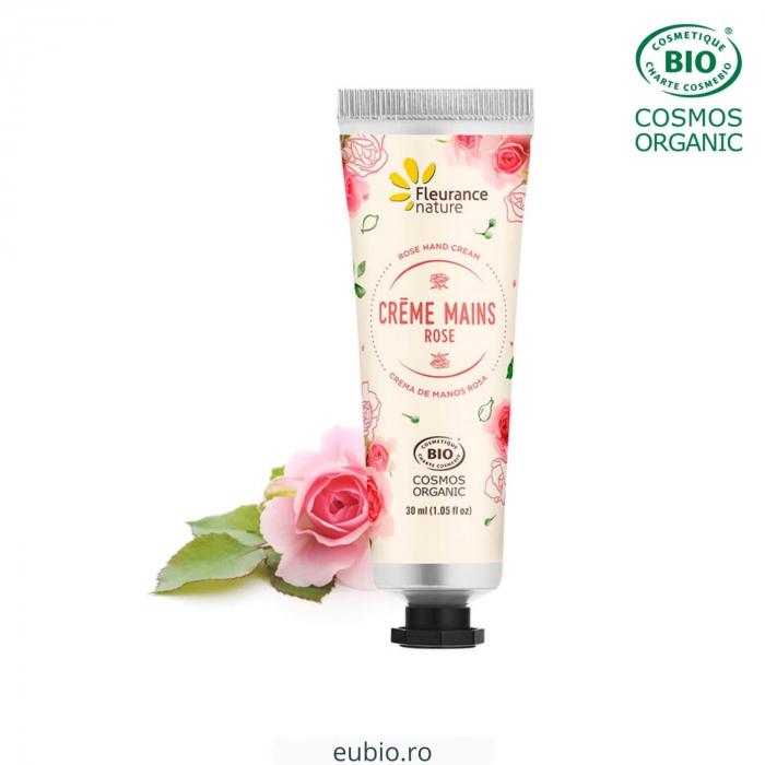 Cremă de mâini bio cu trandafiri | Fleurance Nature, 30ml [0]