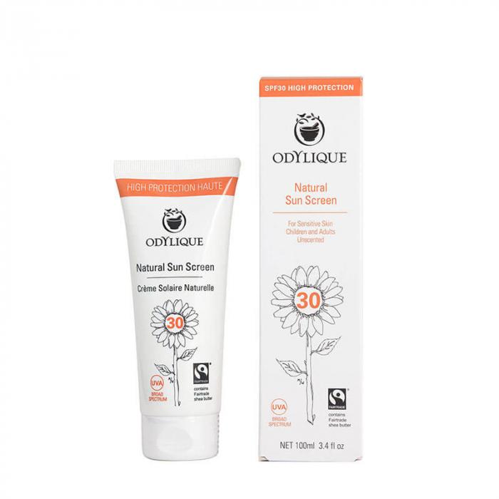 Crema naturala protectie solara FPS 30 pentru piele sensibila, Odylique by Essential Care, 50ml [0]