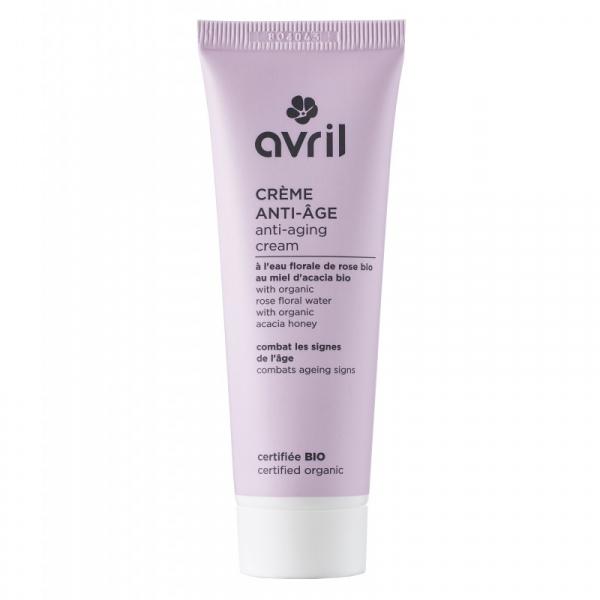Crema anti-aging, certificata bio, cu apa de trandafir, Avril, 50ml 0