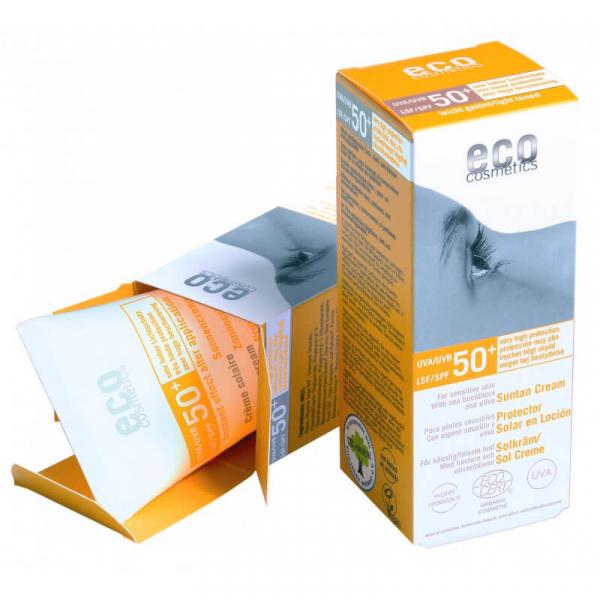 Crema bio cu protectie solara inalta FPS 50+, nuantata, Eco Cosmetics, 75ml 0