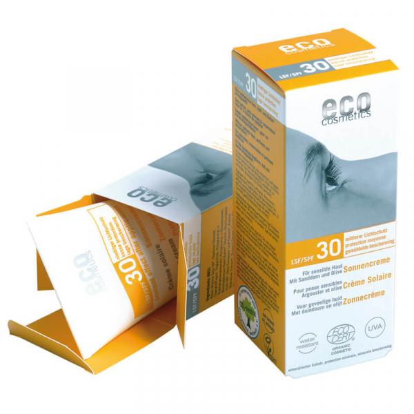 Crema bio protectie solara inalta FPS 30, Eco Cosmetics, 75ml 0