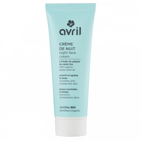 Crema de noapte, ten normal si mixt, certificata bio, Avril, 50ml 0