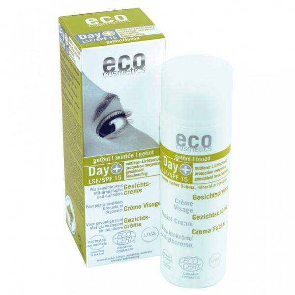 Crema de zi hidratanta, nuantatoare, cu protectie solara FPS 15, Eco Cosmetics, 95g 0
