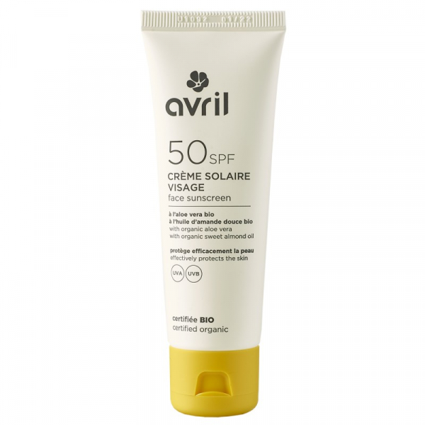 Crema solara pentru ten, SPF 50, certificata bio, Avril, 50 ml 0