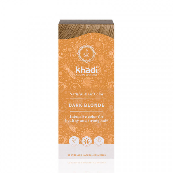 Dark Blonde, vopsea de păr naturală – Blond Închis, Khadi, 100g 0