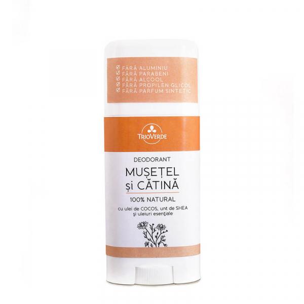 Deodorant natural cu Musetel & Catina, Trio Verde, 70gr 0