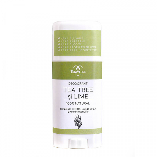 Deodorant natural cu Tea Tree & Lime, Trio Verde, 70g