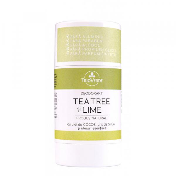 Deodorant natural cu Tea Tree & Lime, Trio Verde, 70g 0