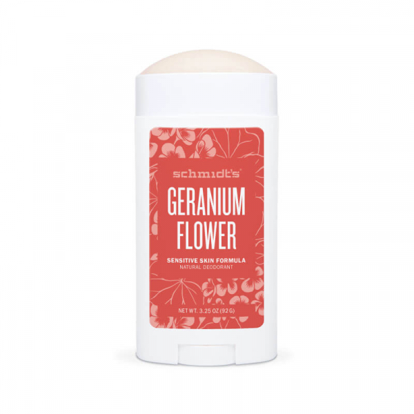 Deodorant natural & vegan Schmidt's, Sensitive Skin, Geranium Flower, Stick, 92g 1