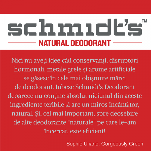 Deodorant natural & vegan Schmidt's, Sensitive Skin, Geranium Flower, Stick, 92g 2