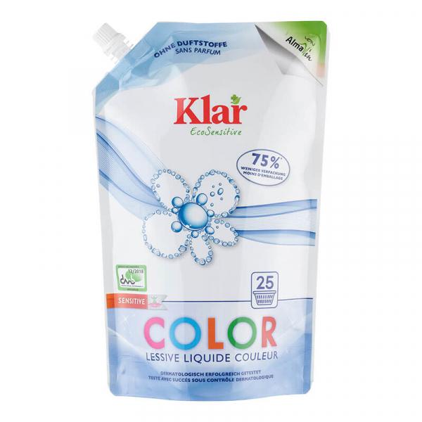 Detergent bio lichid fara parfum, COLOR, Ecopack, Klar, 1500 ml 0
