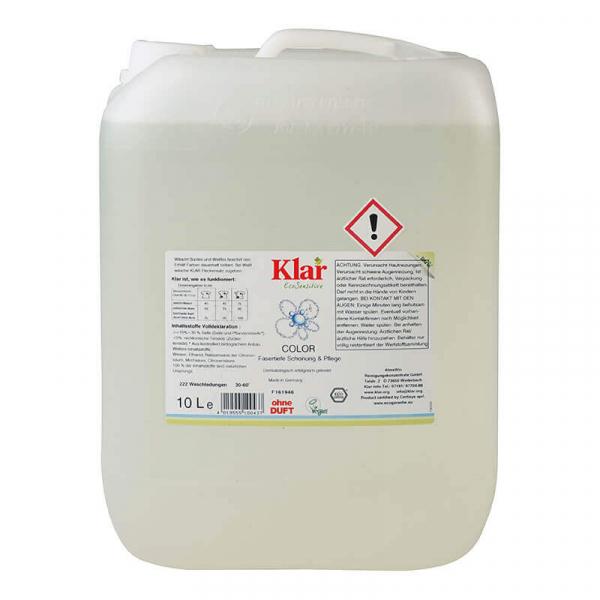 Detergent bio lichid fara parfum, COLOR, Klar, 10 l 0