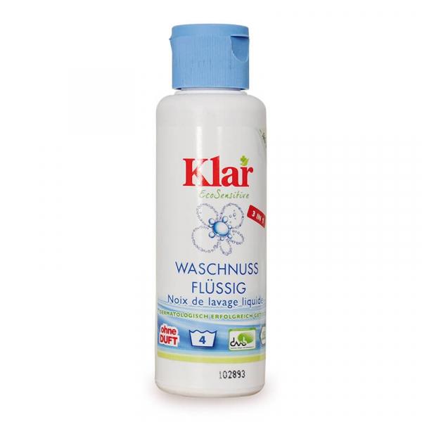 Detergent bio lichid fara parfum pentru rufe, 3 in 1, Klar, 125ml 0