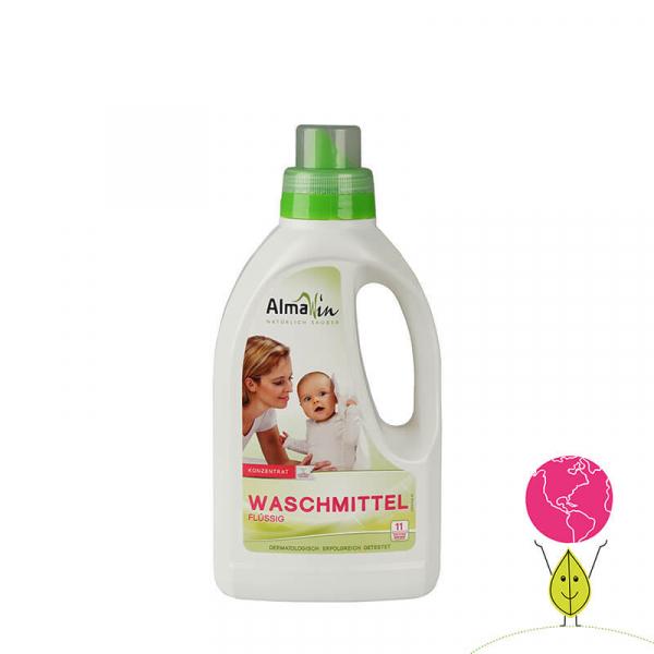 Detergent bio lichid pentru rufe, Concentrat Eco, 11 spalari, AlmaWin, 750ml 0