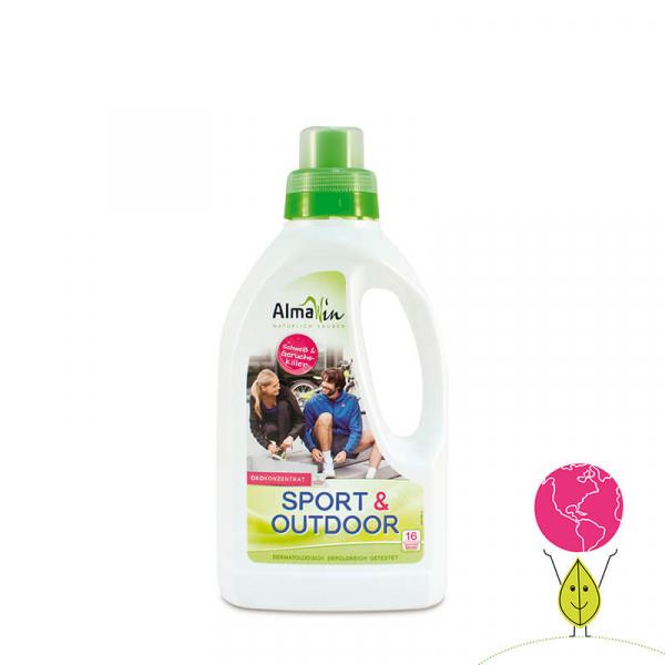 Detergent bio lichid sport & outdoor, Concentrat Eco, AlmaWin, 16 spalari, 750ml