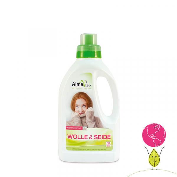 Detergent bio pentru lana si tesaturi delicate, Concentrat Eco, AlmaWin, 50 spalari, 750ml 0