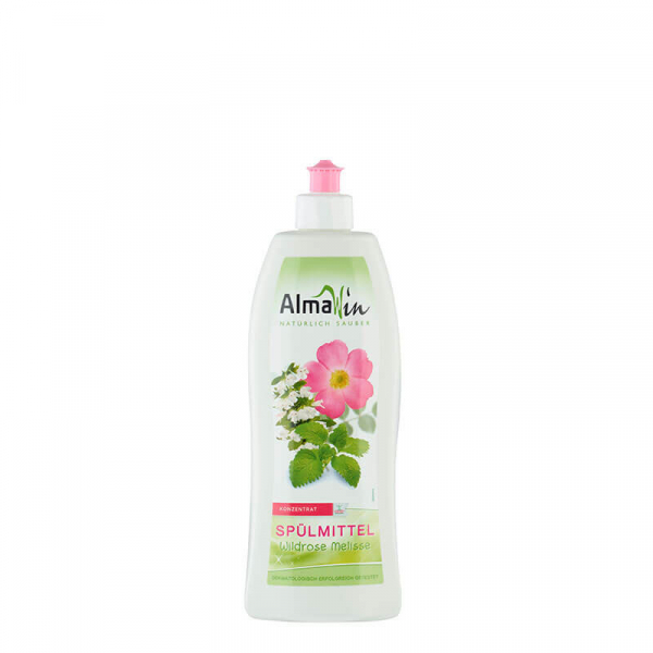 Detergent bio pentru vase, Trandafir salbatic si Melisă, AlmaWin, 500ml 0
