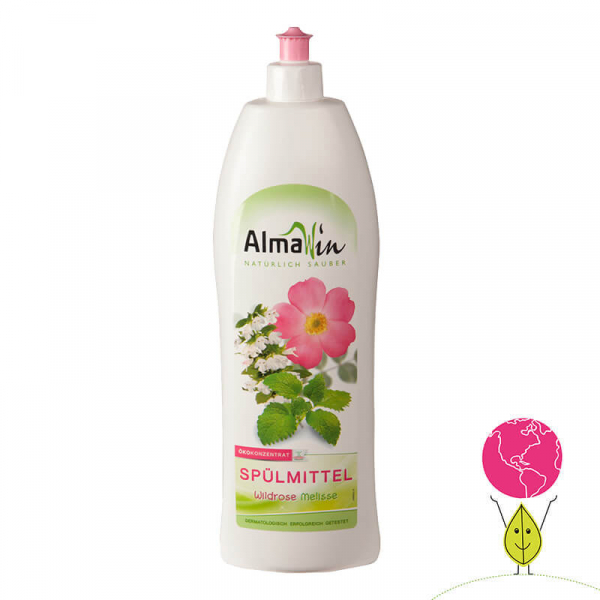 Detergent bio pentru vase, Trandafir salbatic si Melisă, AlmaWin 0