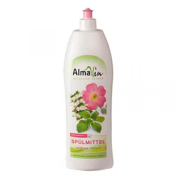 Detergent bio pentru vase, Trandafir salbatic si Melisă, AlmaWin, 1l 0