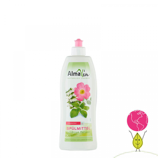 Detergent bio pentru vase, Trandafir salbatic si Melisă, AlmaWin 2