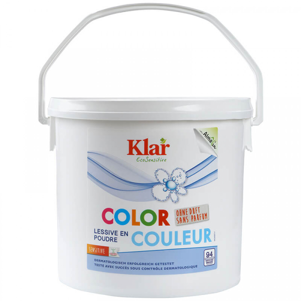 Detergent bio pudra fara parfum pentru rufe, COLOR, Klar, 4.7 kg 0