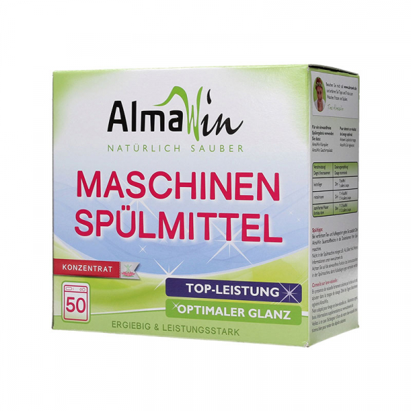 Detergent bio pudra pentru masina de spalat vase, Concentrat Eco, AlmaWin, 50 spalari, 1250g 0