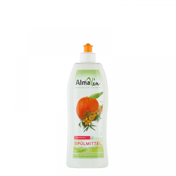 Detergent bio pentru vase, Mandarine si Catina alba, AlmaWin, 500ml 0