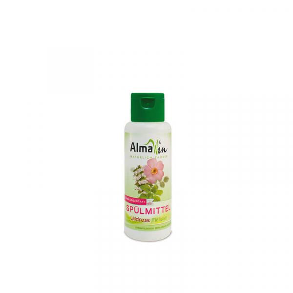Detergent bio pentru vase, Trandafir salbatic si Melisă, AlmaWin, 100ml 0