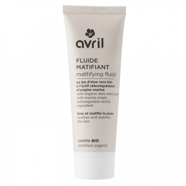 Fluid matifiant certificat organic, Avril, 50ml 0