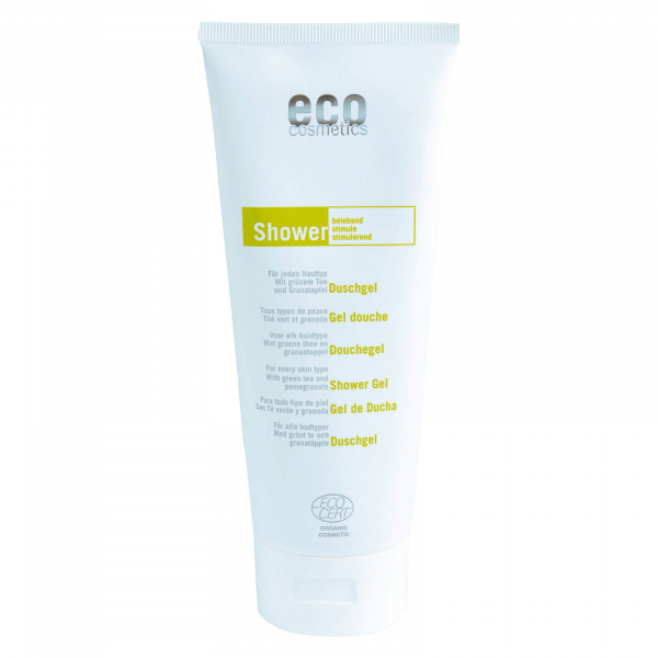 Gel de dus natural cu rodie si ceai verde, Eco Cosmetics, 200 ml 0