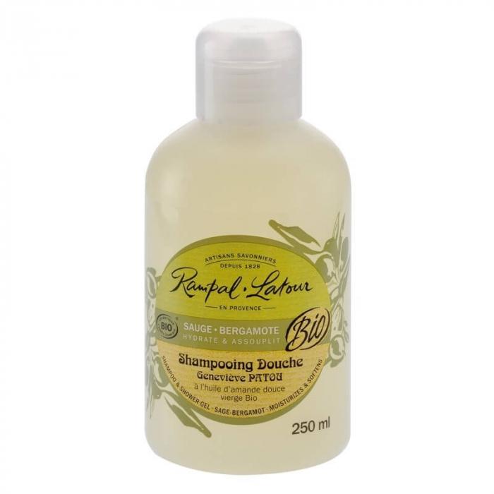 2 în 1 Șampon & gel de duș bio Salvie și Bergamota   Rampal Latour, 250ml [0]