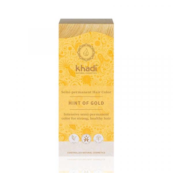 Golden Hint, vopsea de păr naturală - Blond Auriu, Khadi, 100g 1