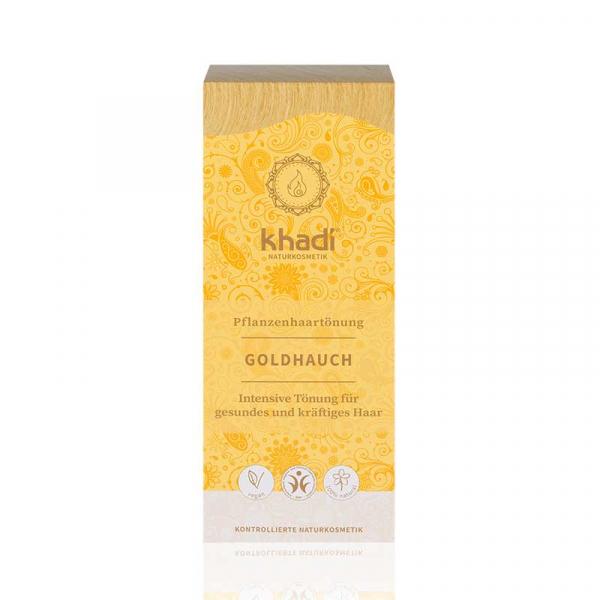 Golden Hint, vopsea de păr naturală - Blond Auriu, Khadi, 100g 0