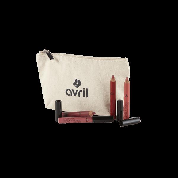 Set promo 4 rujuri creion bio Avril + Portfard cadou 0