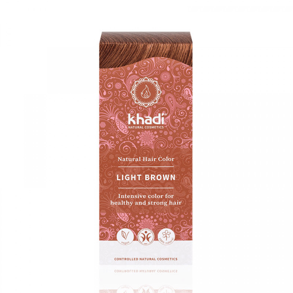 Light Brown, vopsea de par naturala - Saten Deschis, Khadi, 100g 0