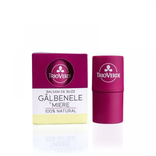 Balsam de buze natural cu Galbenele si Miere, Trio Verde 0