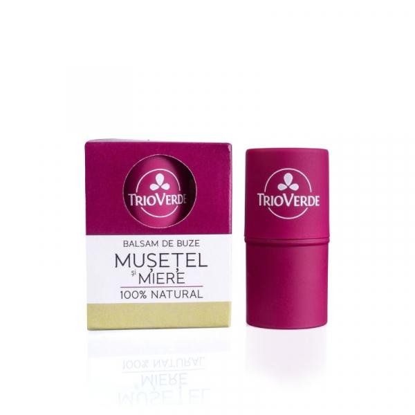 Balsam de buze natural cu Musetel si Miere, Trio Verde 0