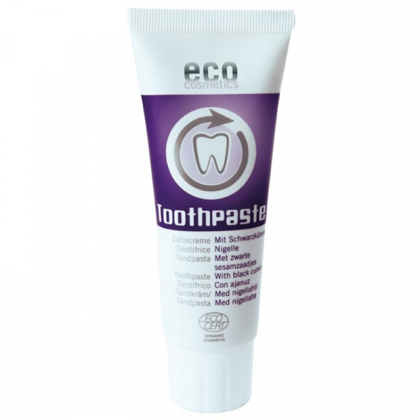 Pasta de dinti fara fluor, cu chimen negru, homeopata | Eco Cosmetics, 75ml 0