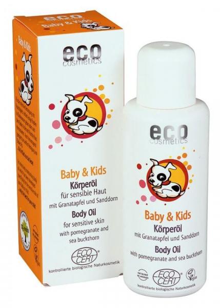 Ulei masaj 100% organic cu rodie si catina, Eco Cosmetics, 100 ml 0