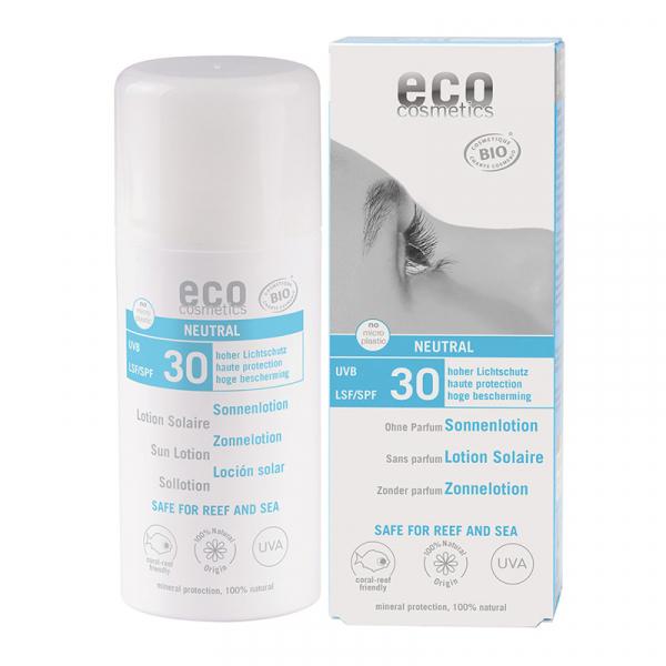 Lotiune fluida de protectie solara FPS 30, fara parfum, Eco Cosmetics, 100ml