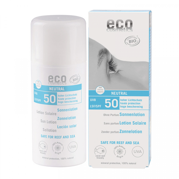 Lotiune fluida de protectie solara FPS 50, fara parfum, Eco Cosmetics, 100ml 0
