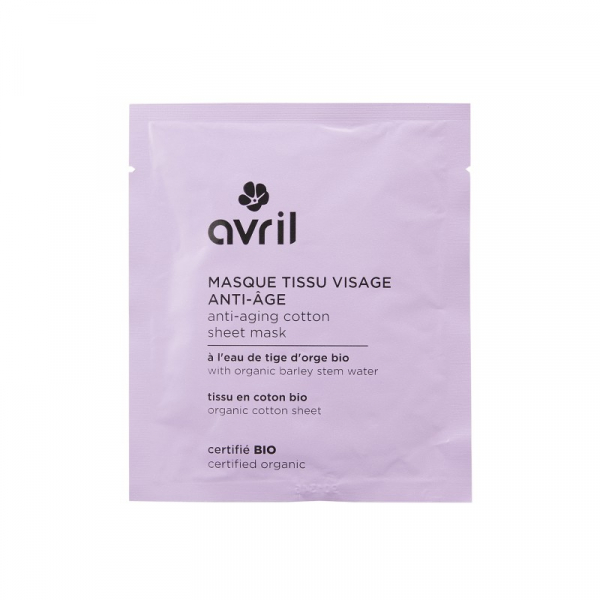 Masca faciala anti-aging, Organic Cotton Sheet Mask, Avril 0