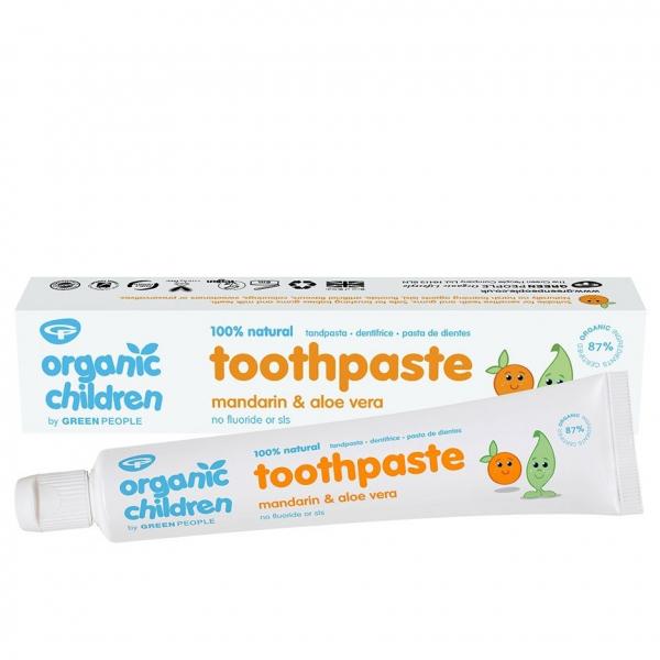 Pasta de dinti bio pentru bebelusi si copii, mandarine, Green People 0