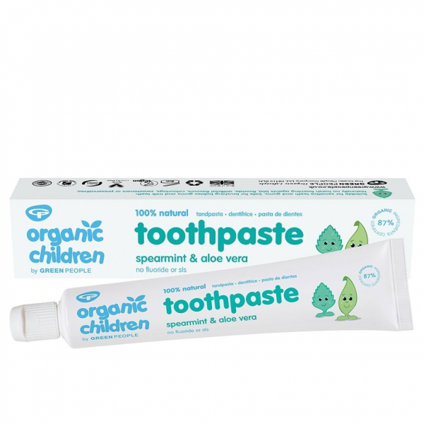 Pasta de dinti bio pentru copii, cu menta si aloe vera, Green People 0