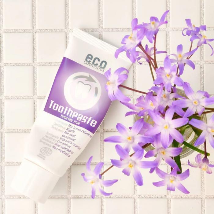 Pasta de dinti fara fluor, cu chimen negru, homeopata | Eco Cosmetics, 75ml 1