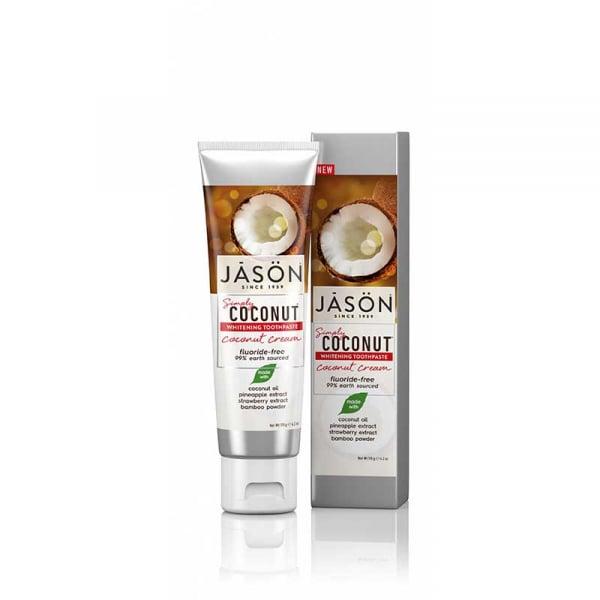 Pasta de dinti naturala, Crema de Cocos, pentru albirea dintilor, Jason, 119g 0