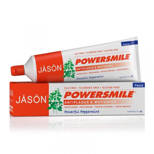 Pasta de dinti Power Smile, fara fluor, pentru albirea dintilor, Jason, 170g 0