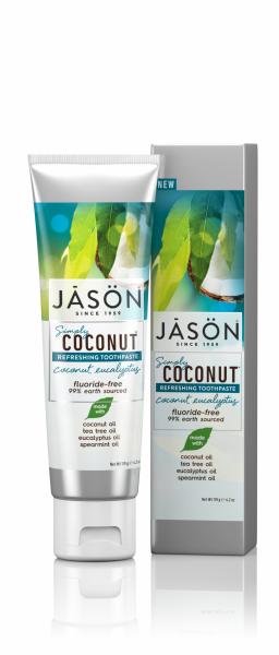 Pasta de dinti racoritoare cu cocos si eucalipt, Jason, 119g 0