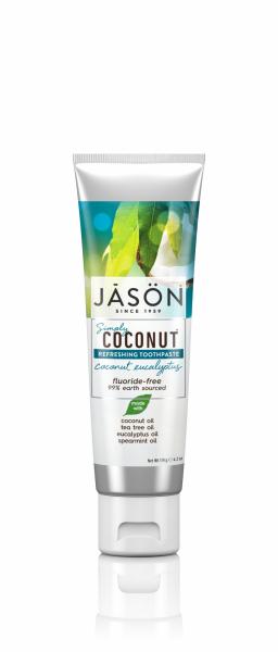 Pasta de dinti racoritoare cu cocos si eucalipt, Jason, 119g 1